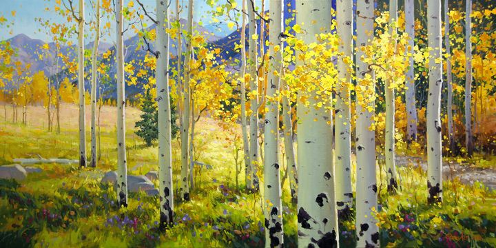 Afternoon Aspen Trail - GK FINE ART GALLERY