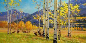 """""""Elks Heaven"""" by artist Gary Kim"""
