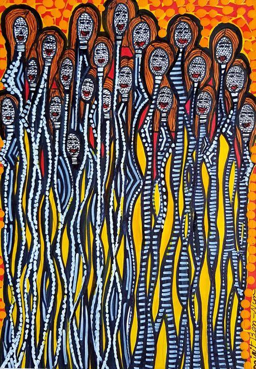 Selling modern drawings from Israel - Mirit Ben-Nun