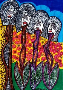 Flowers drawings from Israel
