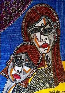 Faces from Israel modern artwork