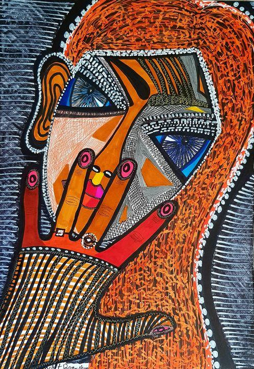 Hamsa by woman modern artist - Mirit Ben-Nun