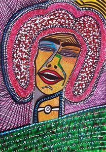 Modern portrait by Mirit Ben-Nun