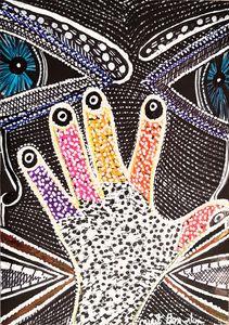 Manos mujer artista pintora Israel