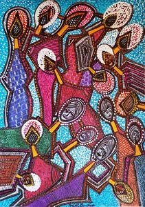 Rostros dibujo abstractos de Israel