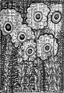 Flowers artwork israeli woman
