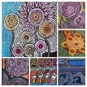 Flowers collage contemporary artist