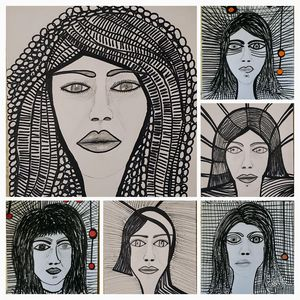 Women faces original painter israel