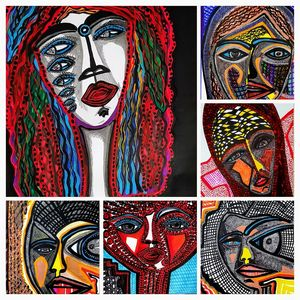 Faces collage expressive art Israel