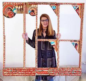 Israel art paint wood frame acrylic