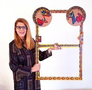 Wood paint acrylic frame Israel art