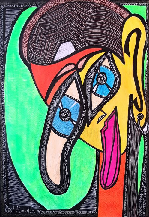 Israeli woman artist modern artwork - Mirit Ben-Nun
