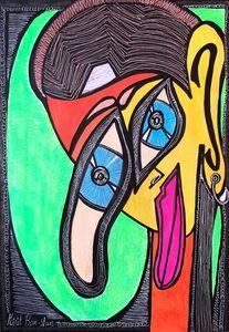 Israeli woman artist modern artwork