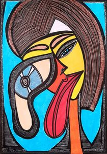Art Israel modern drawing woman face