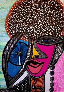 Artists from Israel curly woman