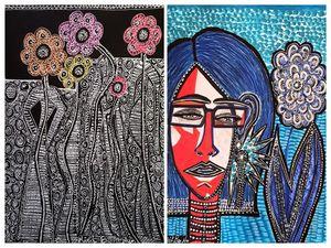 Arte israeli pintura de parejas