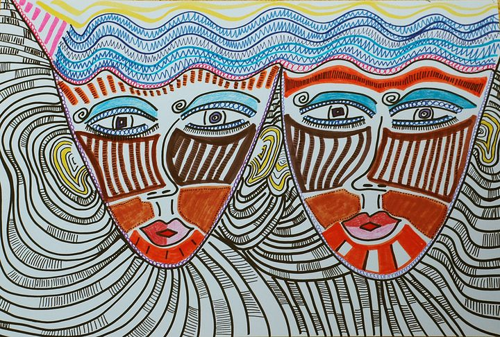 Female art israeli modern drawing - Mirit Ben-Nun