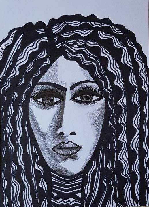 Woman artist israeli modern drawing - Mirit Ben-Nun