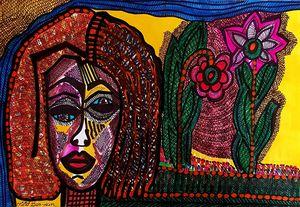 Expressive Jewish female modern art