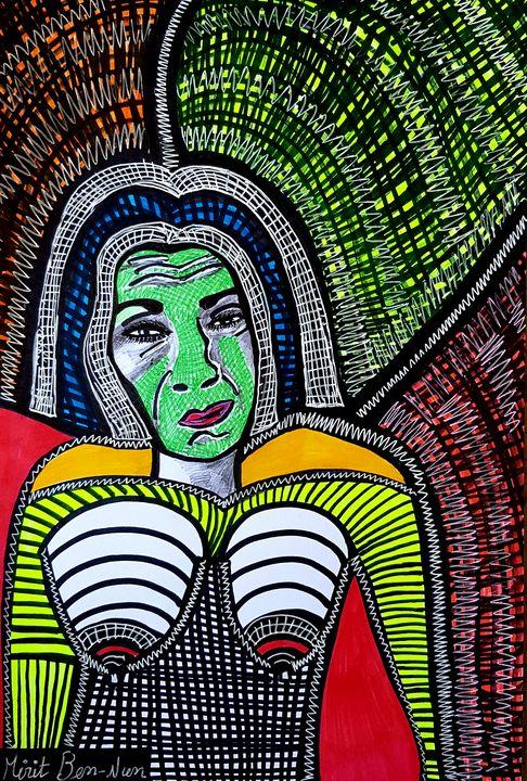 Portrait art israeli modern painter - Mirit Ben-Nun