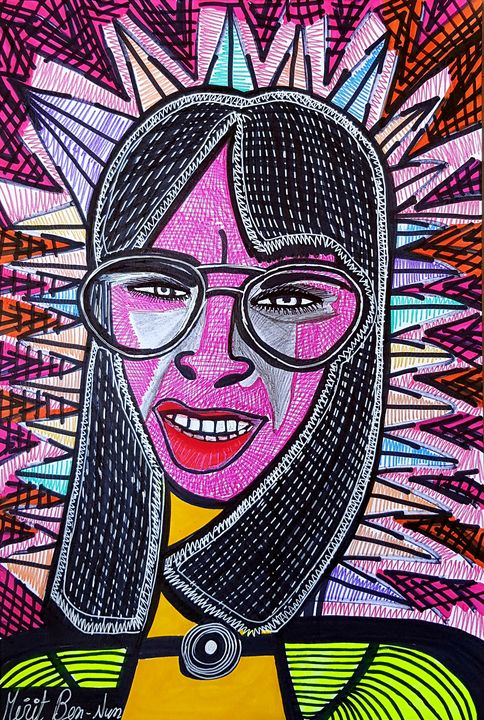 Portrait art modern paintings - Mirit Ben-Nun