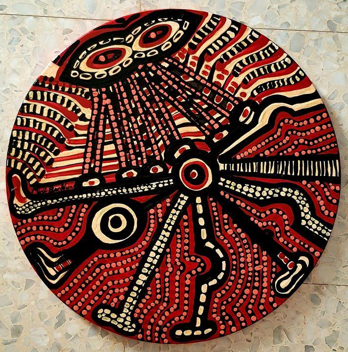 Mandala israeli doodling painting - Mirit Ben-Nun