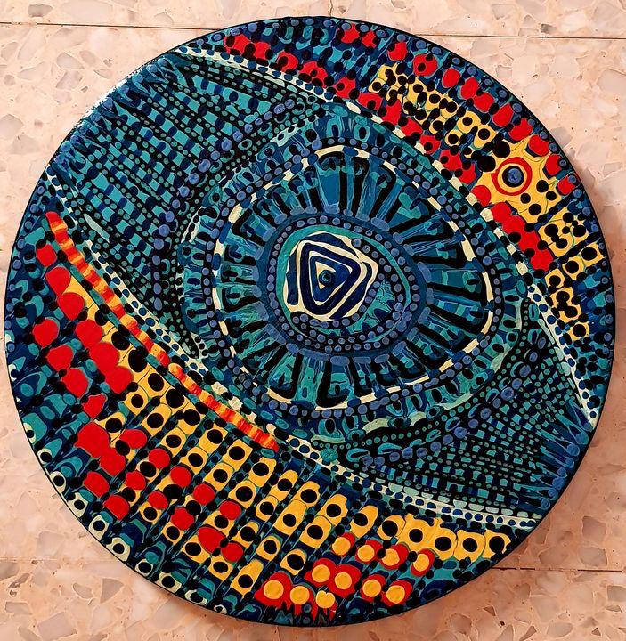Mandala Zangle art by israeli painte - Mirit Ben-Nun