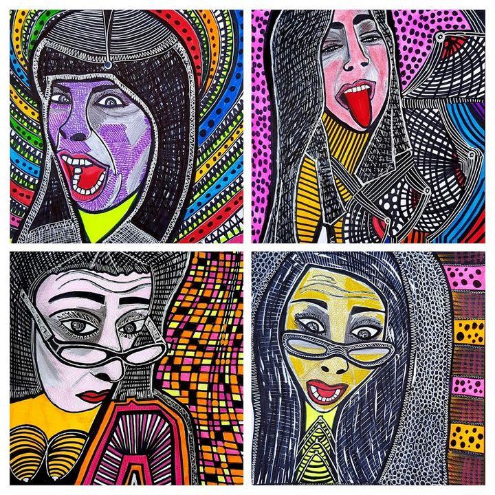 Visionary art modern artist israel - Mirit Ben-Nun
