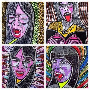 Raw art modern israeli artist
