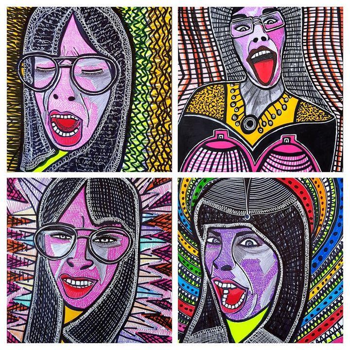 Raw art modern israeli artist - Mirit Ben-Nun