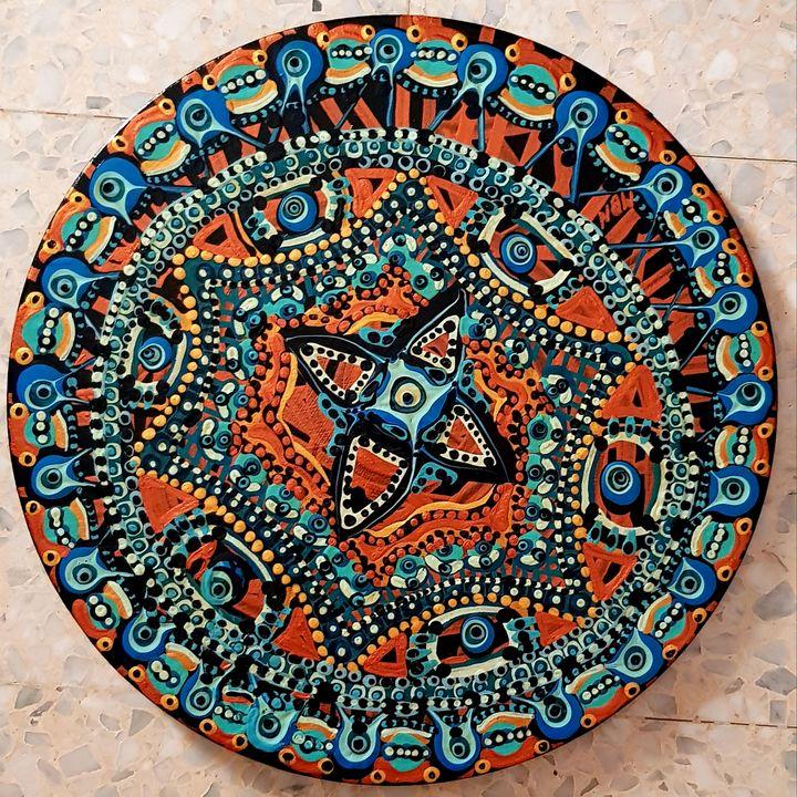 Mandala art paintings israeli woman - Mirit Ben-Nun