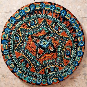 Mandala art paintings israeli woman