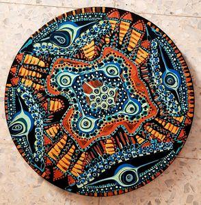 Mandala ethnic painting israel