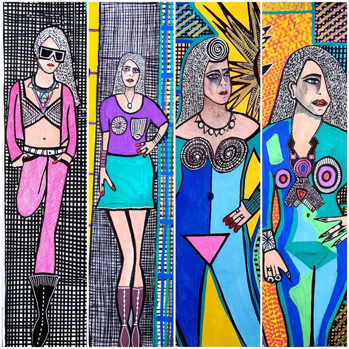 Art collector modern paintings - Mirit Ben-Nun