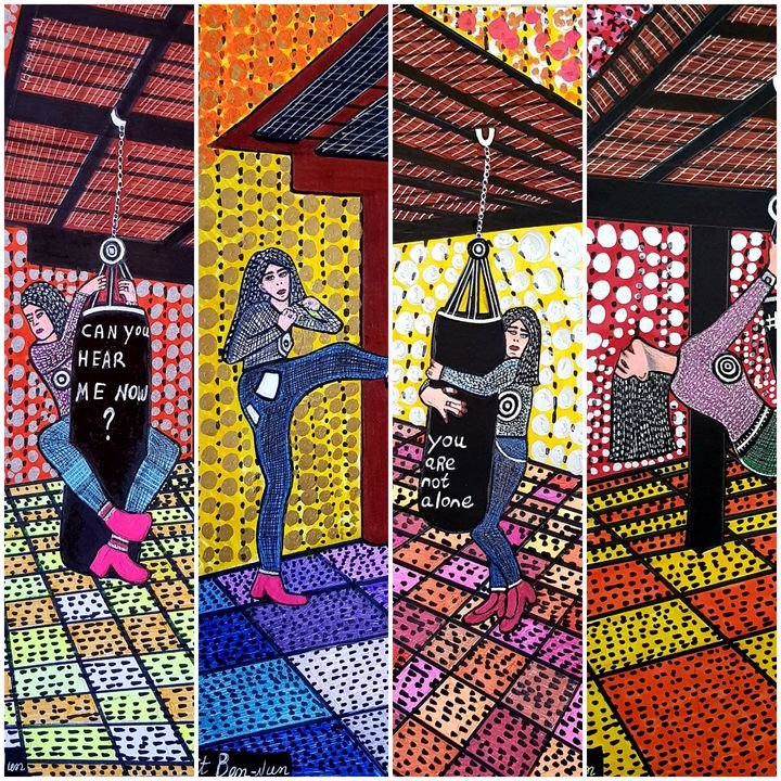 Feminist art paintings Israel - Mirit Ben-Nun