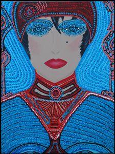 Obra de arte etnica artista israeli
