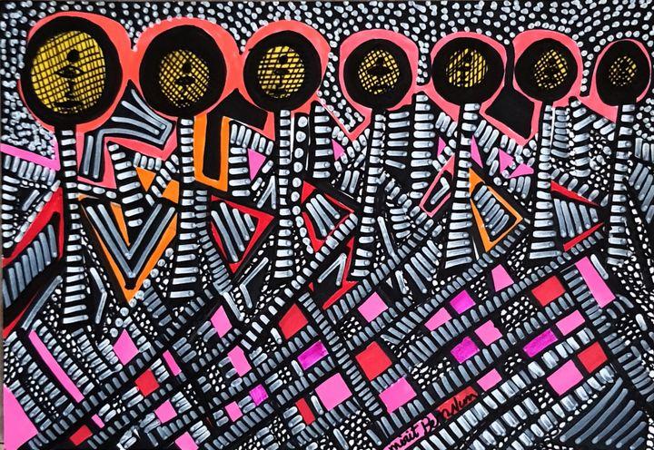 Venta pintura abstracta desde Israel - Mirit Ben-Nun
