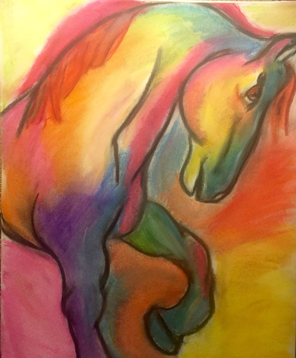 Horsing around - Color my world art