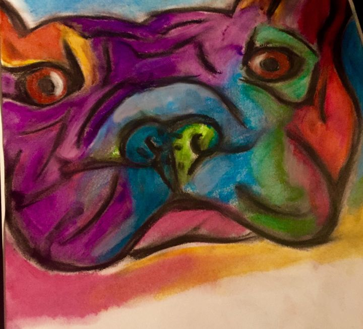 French bulldog - Color my world art