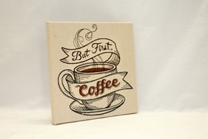 But First Coffee - Embroidered Art