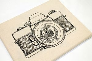 Camera - Embroidered Art