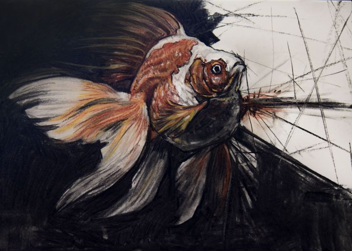 Goldfish Breakthrough - Lora Kaloyanova Art