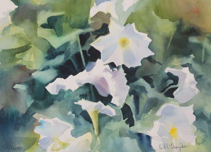 White on Green - keiththompsonart