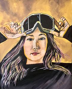 """Gold Rush"" Chloe Kim - Art Of Lonnie"