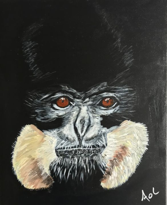 Fierce Monkey (Gibbon) - Art Of Lonnie