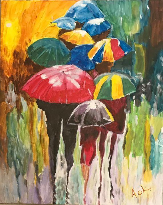 Rainy Day Umbrellas - Art Of Lonnie