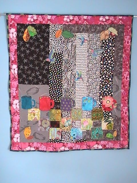 """Morning Coffee"" - Art Quilts and Beaded Representations"