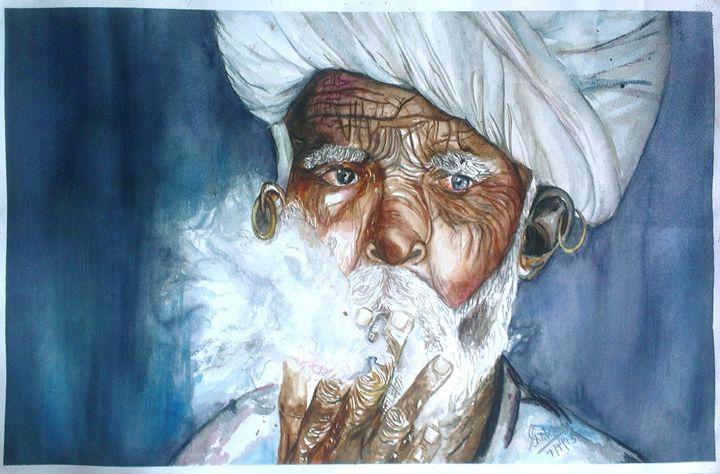 Smoker - Watercolors