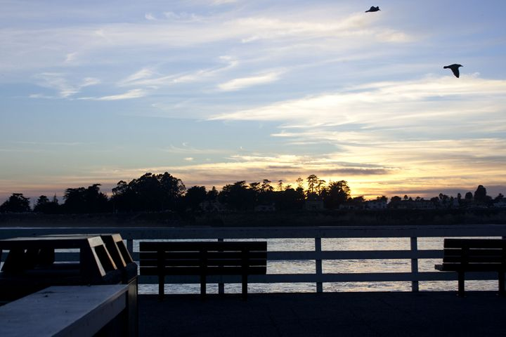 Sitting On The Pier - Photography by Chris