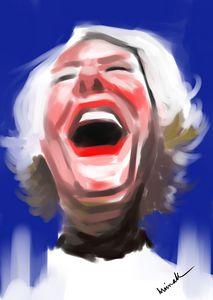 Portrait of a jolly woman